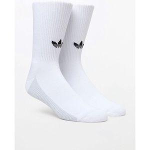 Adidas three stripe crew socks